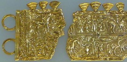 Gallaecia Sueva - Goldenes Relief aus Moñes